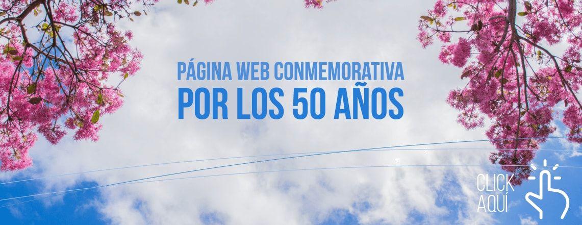 Página web conmemorativa por los 50 años Universidad del Azuay
