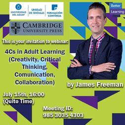Webinar Creativity, Critical Thinking, Communication Collaboration