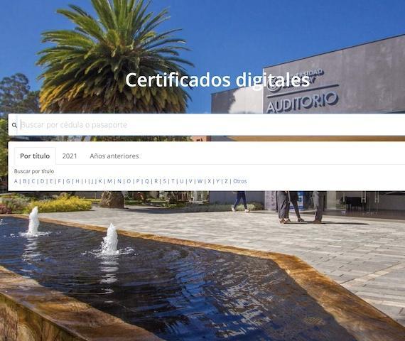 Academy digital certificates