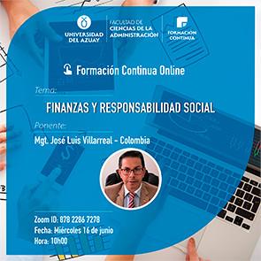 Finance and Social Responsibility Webinar
